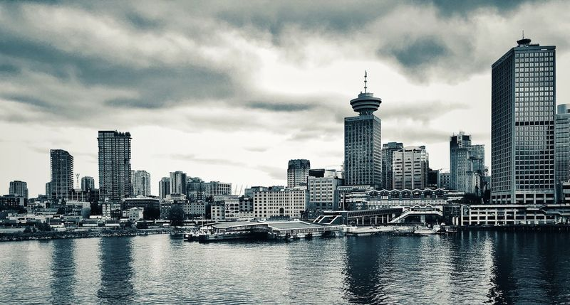 Vancouver cityscape Water Black And White Photography Black And White Architecture Skyline Skyline Vancouver BC Architecture Building Exterior Built Structure Building City Sky Office Building Exterior Skyscraper Urban Skyline Travel Destinations Cityscape Cloud - Sky No People Modern
