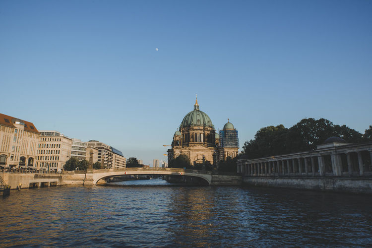 Berlin Berlin Spree River Cruise Cruise Ship River Water Built Structure Architecture Sky Clear Sky Dome Tourism Travel Destinations Travel Waterfront