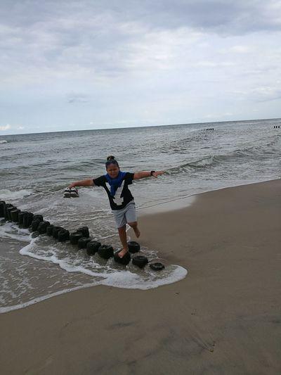 Athlete Sea Men Full Length Sport Beach Exercising Sand