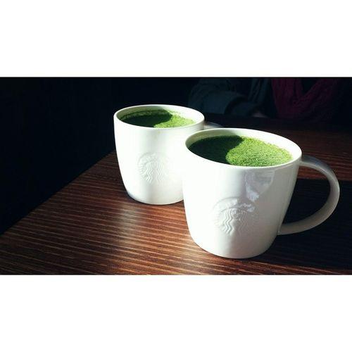 It's a Starbucks kind of day ^_^ Learningshappydays Starbucks Greentealatte Stuvac satisfied soyum slurpslurp studysesh unsw uts igsyd fatmeup igdaily @starbucksau @ohngooo