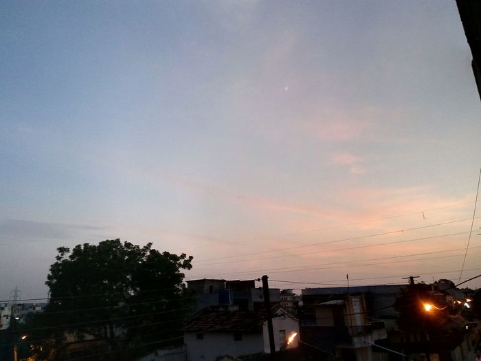 Heyyyy, Good Evening Evening Photography Coloured Sky Orange Sky Outdoor Photography After Sunset Slum Area But Still A Lot To See In Nagpur,India