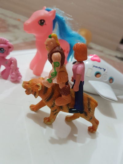 Toy Indoors  Multi Colored No People Figurine  ببر بازی