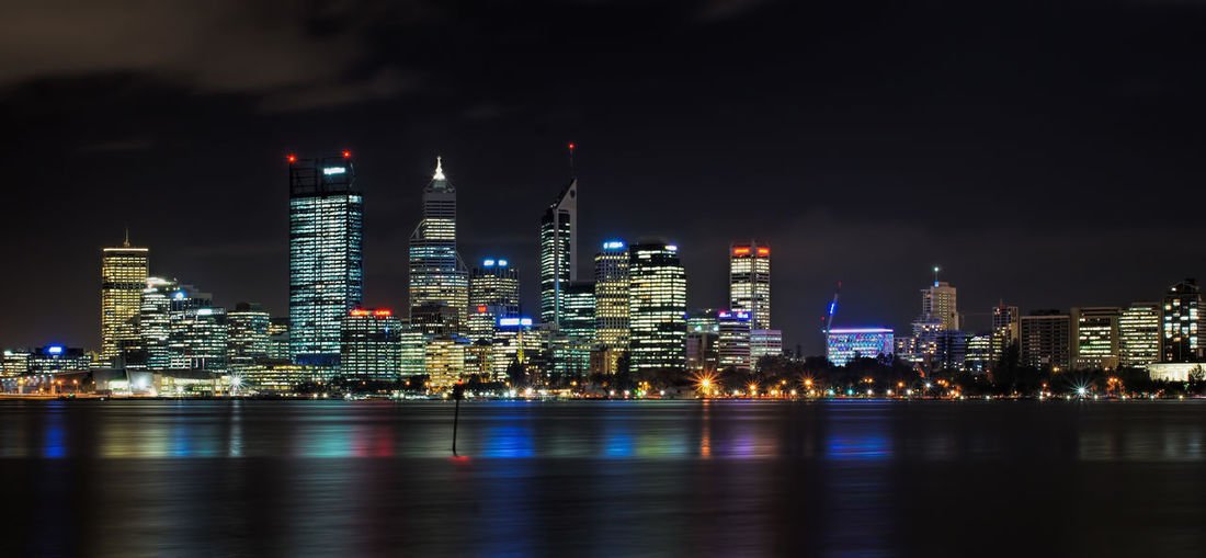Building Exterior Architecture Built Structure Illuminated Night City Water Building Waterfront Reflection Urban Skyline Office Building Exterior Sky Skyscraper River No People Tall - High Cityscape Modern Outdoors Perth Australia Tranquil Scene EyeEmNewHere