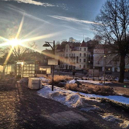 Gnesta Sweden Sunrise Sun snow i