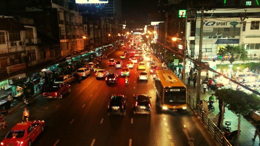 View Town Hot Peace Trip Bangkok Thailand. Local Nature Bangkok Travel International TukTuk Taxi Exiciting Rood Naight Trafic Jam