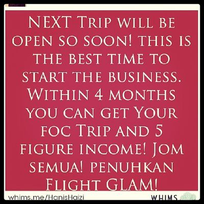 Travel with GLAM just amazing! U can start at the minimal but if you follow every steps of the way, you too can be successful GLAMpreneur. So, this is the time to start the journey during the trip incentive. Glampreneurs Glam Hanishaizi Freetrip bigincome info businesstrip mindpower mindset justdoit millionairesproject