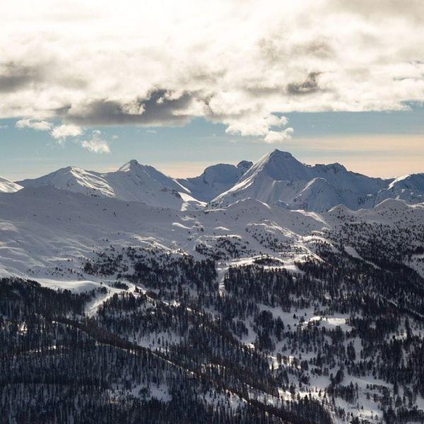 Fin de journée à la montagne Risoul Vars Ski Laforetblanche alpesdusud snow