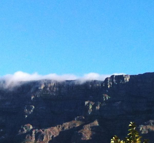 Wolkenfluss am Tafelberg. Mountain Blue Tranquil Scene Cold Temperature Beauty In Nature Tablemountain South Africa Capetown Kapstadt Tafelberg Scenics Nature Travel Photography