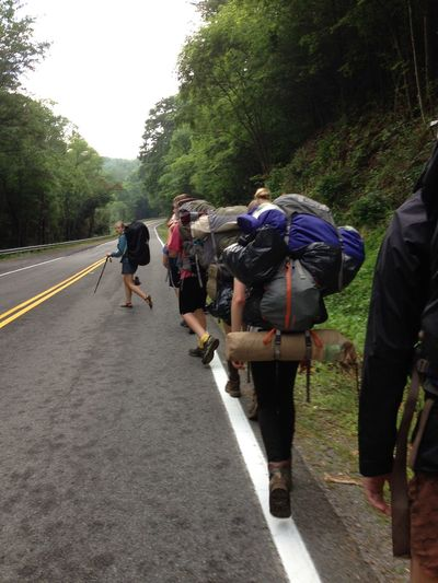 Backpacking Clear Sky Country Road Outdoors Road The Way Forward Walking