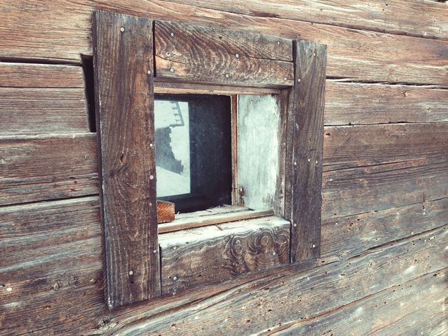 Abandoned Closed Entrance Geometry Obsolete Old Wall Window Wood Wood - Material Wooden