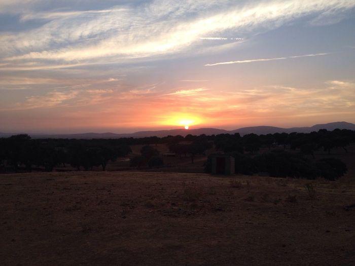 Increíble puesta de sol