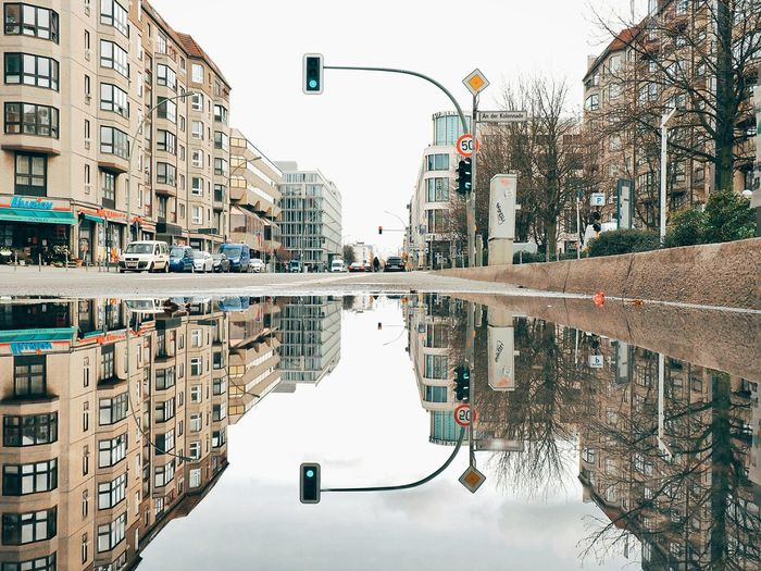 Puddle Puddleography Puddle Reflections Puddleporn Reflection Reflections Reflection_collection Reflections In The Water Berliner Ansichten Berlin EyeEm Best Shots Eye4photography  Urbanphotography Street Street Scene Cityscapes Green Traffic Lights Traffic Lights Junction City Street Capture Berlin