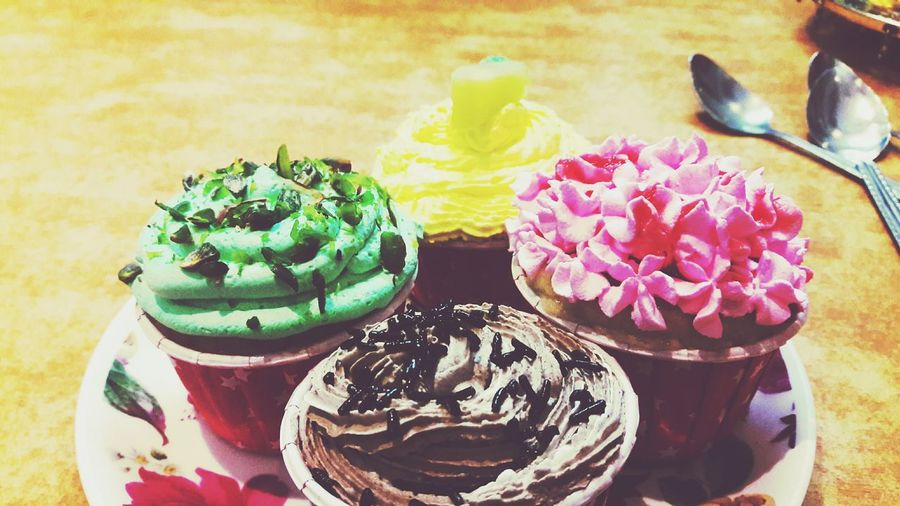 Cupcakes Times Different Flavours Colour Of Life Strawberry Chocolate Pineapple Kiwi Food On The Go Food Lover