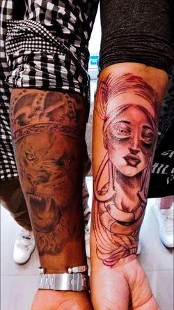Frenchartist Art, Drawing, Creativity Caribbean African Beauty King Lion Queen Nubian Queen Tattoos