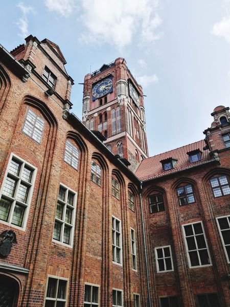 Architecture Low Angle View Travel Destinations No People Torun, Poland City Hall
