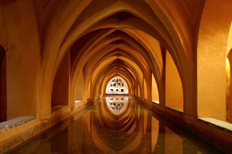 Reflection of ceiling in canal