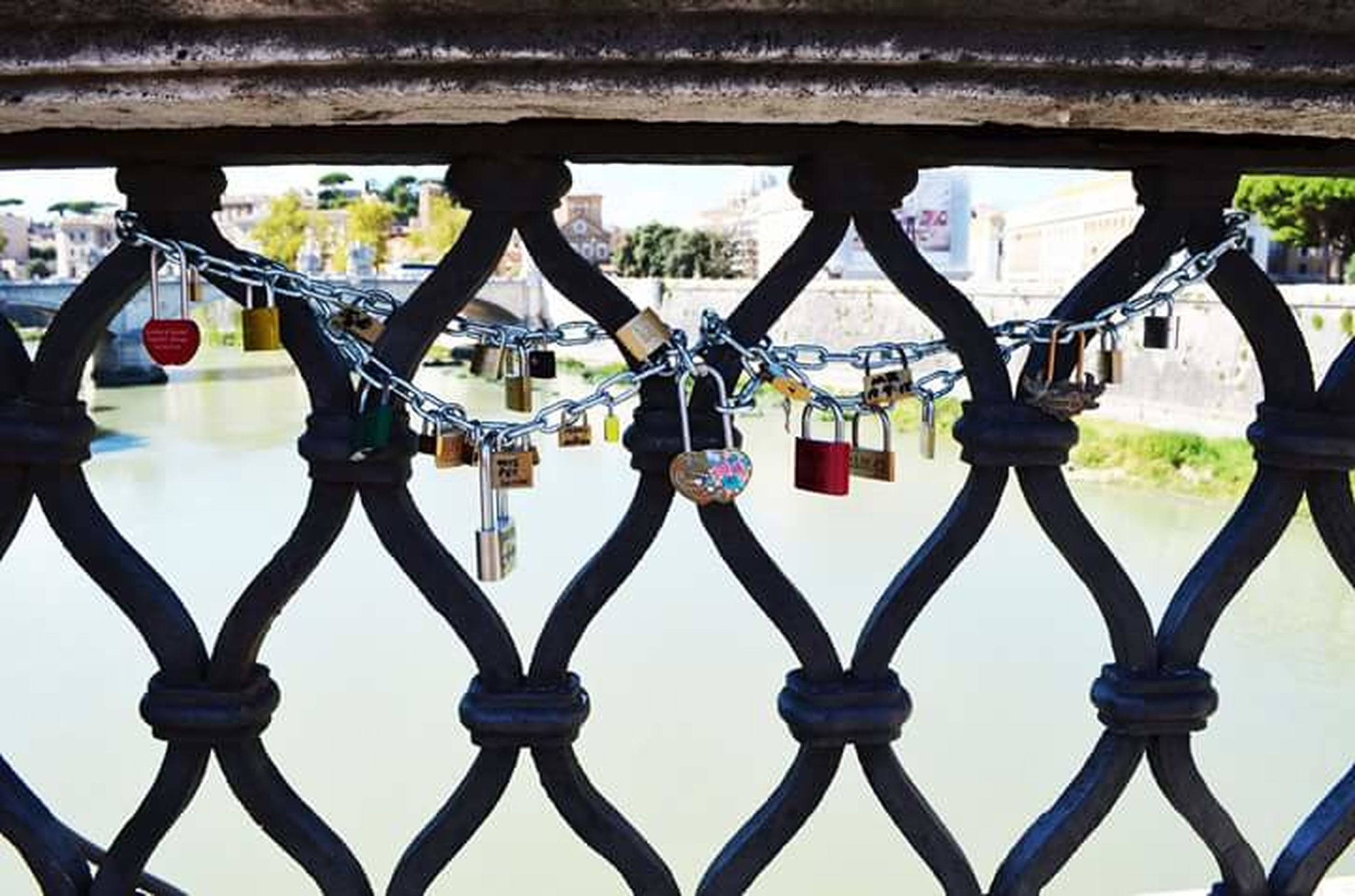 metal, metallic, protection, security, hanging, safety, built structure, architecture, padlock, close-up, fence, railing, day, outdoors, lock, gate, no people, rusty, building exterior, focus on foreground