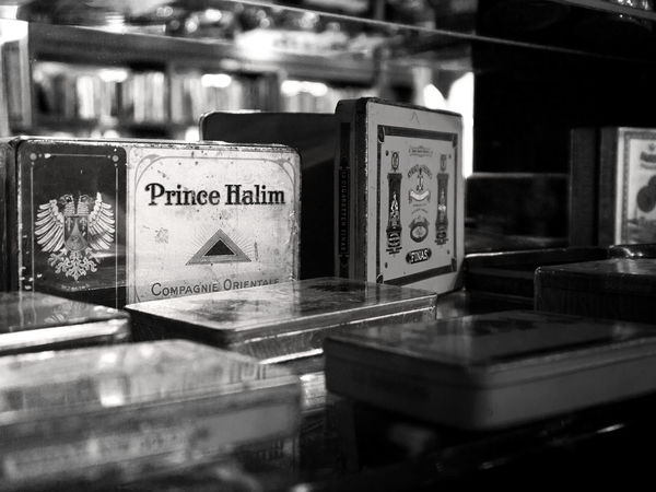 Black And White Close-up Cigarette  Cigaretts Boxes Cigarette Box Shopping Street Shopping Time Shop Store Shelves Shelf Organized Design Antique Antiques Fleamarket Flea Market Smoke Lines And Shapes Lifestyles Metal Monochrome