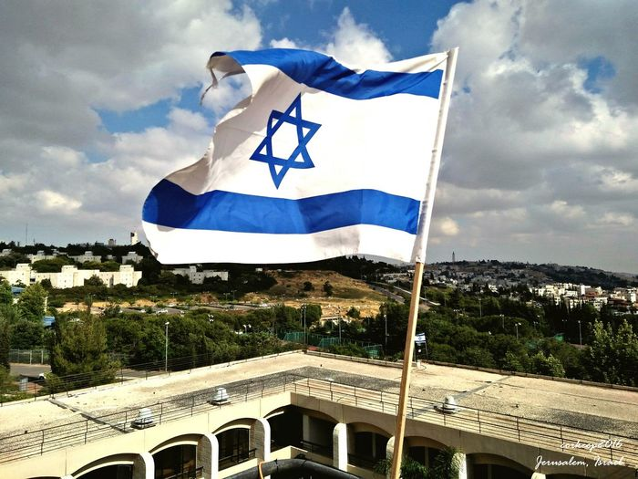 Flag Patriotism Outdoors Sky Israel Jerusalem Jerusalem❤ Zion