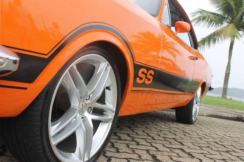 Transportation Tire Wheel Orange Color Car Mode Of Transport Travel Land Vehicle Day Stationary Outdoors No People Close-up Oldcars Opala Ss