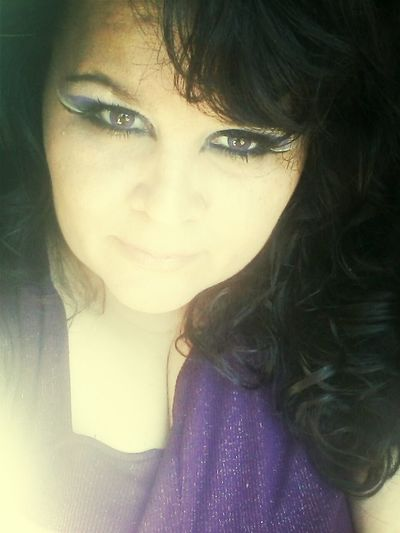 Purple Eyeshadow 0;) Hello World