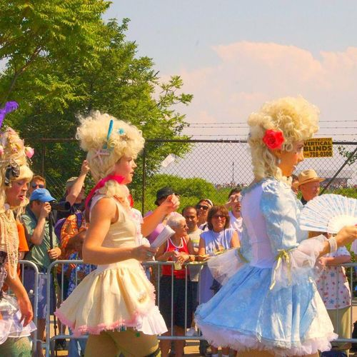 Mermaid Parade Marie Antoinettes Dancing Large Group Of People Tradition Celebration Women Wigs