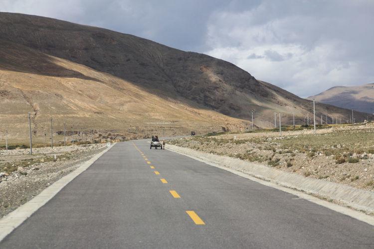 Road passing through mountain