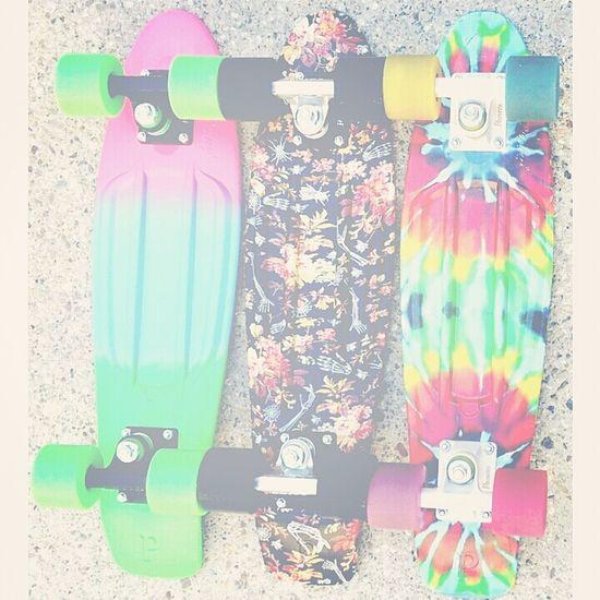 Skateboarding Skateboard Tie Dye Clorful