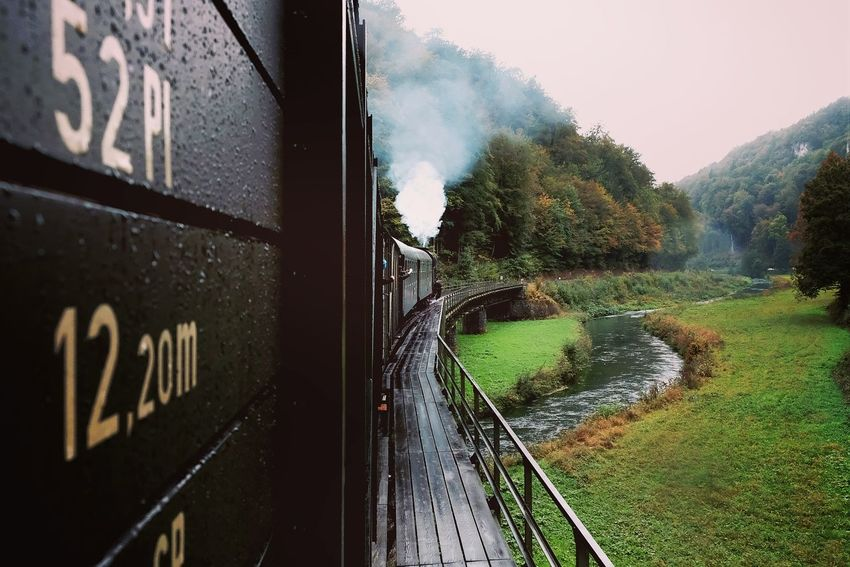 On Tour Water Tree Stream Day Hanging Out Train - Vehicle On The Move Outdoors Taking Photos Journey Steam Train Railroad Track Motion Land Vehicle Travel Mode Of Transport Transportation Public Transport Railroad Station Rail Transportation Train