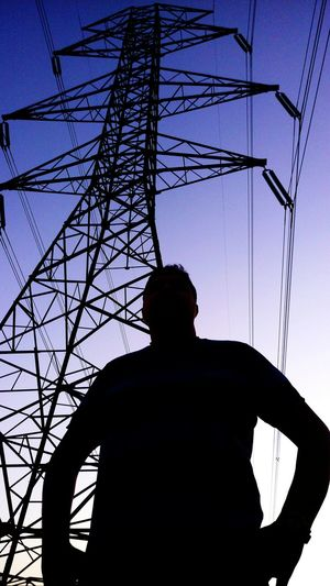 Such a high-voltage landpost... Tehran Iran High-pressure Landpost Electricity Pylon Cable Silhouette Fuel And Power Generation Power Supply Sky Power Cable High Voltage Sign