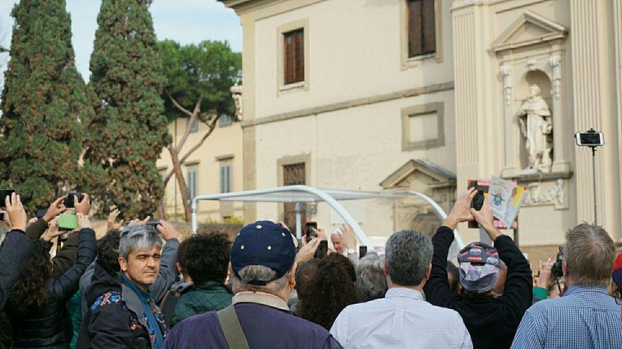 The pope was here!!! Latepost Popefrancis Piazzadellasignoria EyeEm Italy Italia Italy Eurotrip Holiday Fiorentina Fiorenze