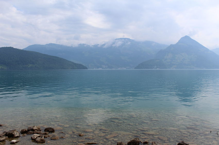Vierwaldstätter See Beauty In Nature Cloud - Sky Day Lake Mountain Mountain Range Nature No People Outdoors Scenery Scenics Sky Tranquil Scene Tranquility Water