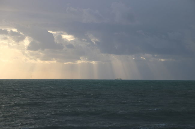 Sea Water Horizon Over Water Cloud - Sky Nature Scenics Tranquility Beauty In Nature Spirituality Awe Outdoors Vacations Hurricane - Storm Thunderstorm Day Sky Social Issues No People