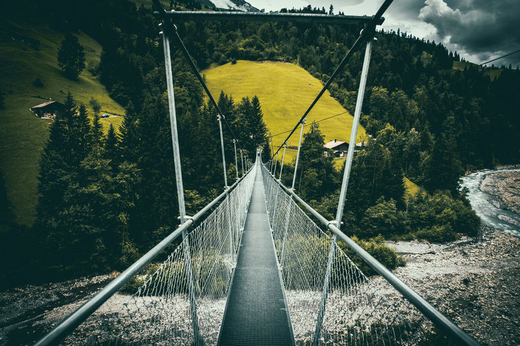 Architecture Bridge Bridge - Man Made Structure Built Structure Connection Day Diminishing Perspective Direction Forest Long Nature No People Outdoors Plant Rail Transportation The Way Forward Track Transportation Tree Water Yellow