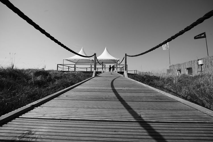 Diminishing Perspective The Way Forward Bridge - Man Made Structure Outdoors Sky Day No People Footbridge Nature