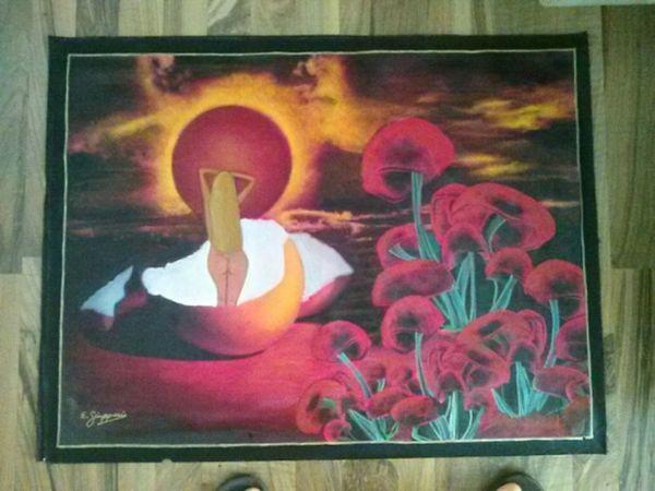 Acid World, original oil painting by E. Giupponi Art Starbuck At Eden Roc Filippa K Asks: What Inspires You?