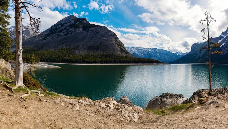Landscape Panorama of Lake Minnewanka in Banff National Park  Canada. Beauty In Nature EyeEmNewHere