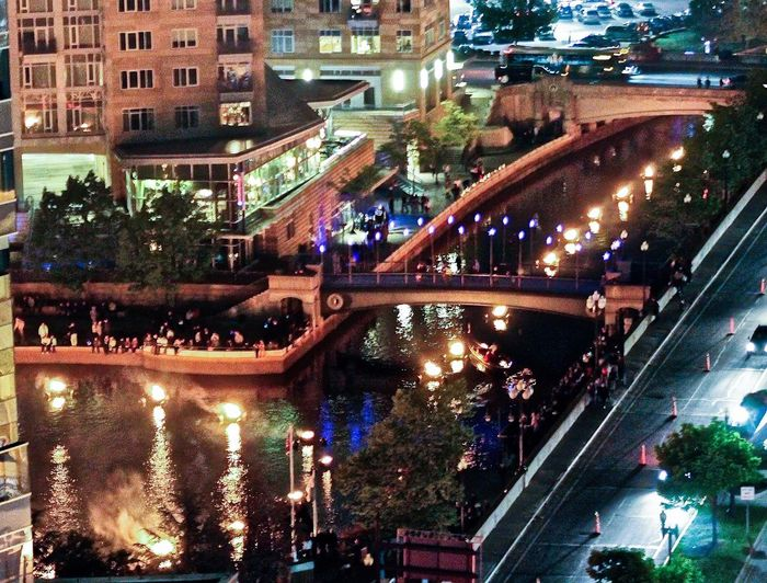 Waterfire River Bonfire City Life Urban Landscape Music Flames Firelight Nightphotography Downtown