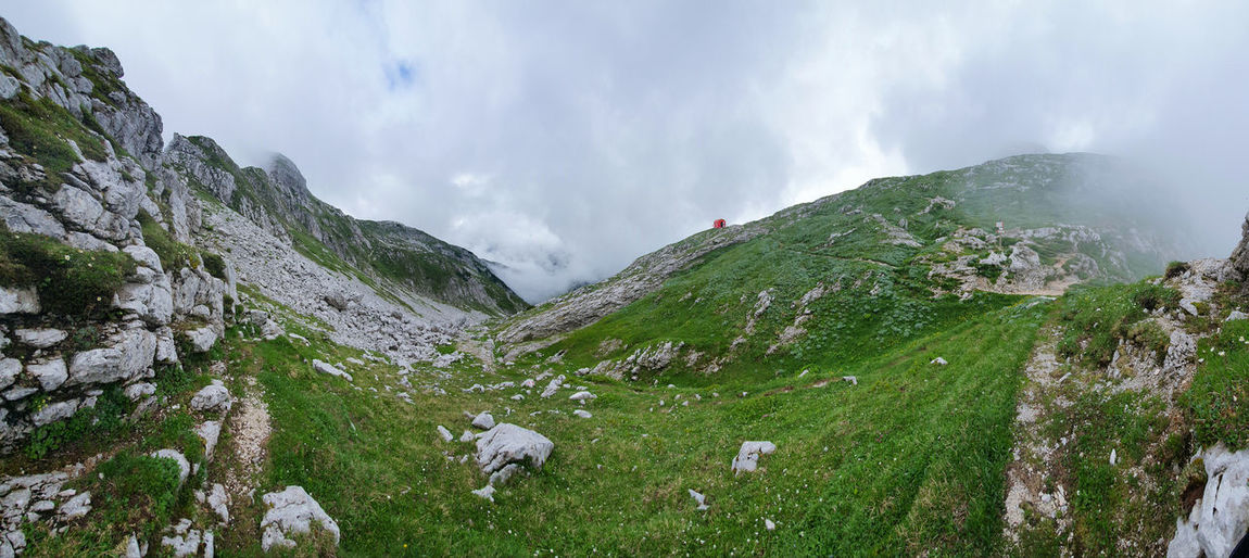 Panoramic view of an alpine valley