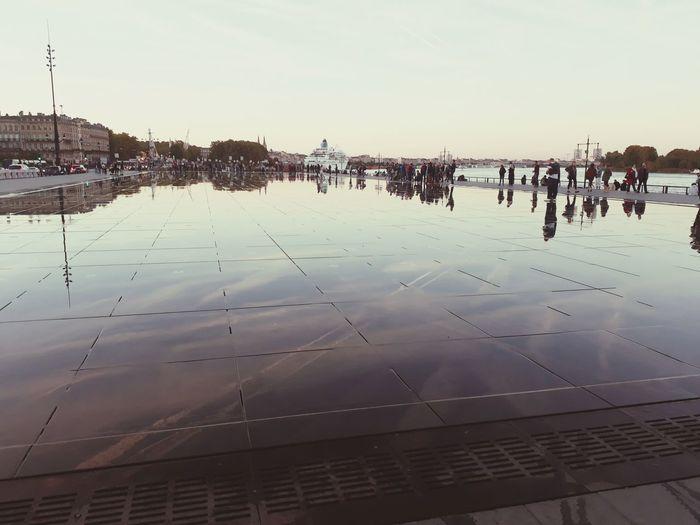 Mirroir D'eau Bordeaux, France Water Mirror Water Clear Sky Reflection Sky