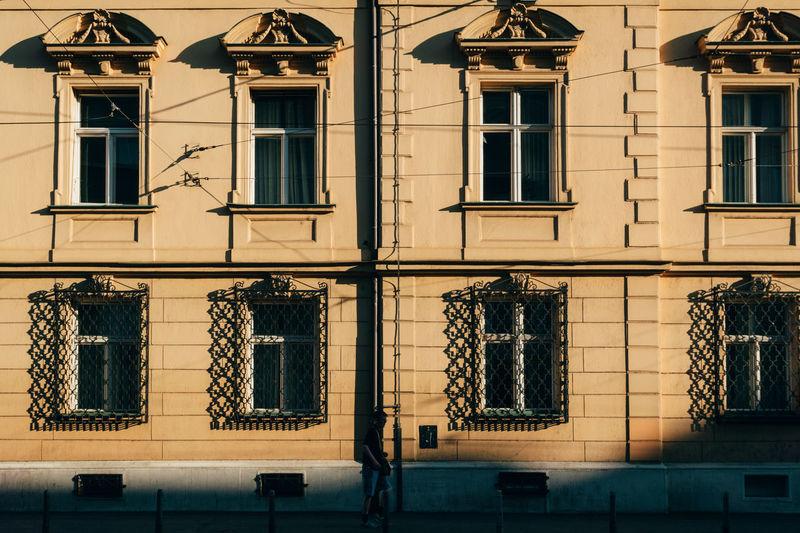 Full Frame Shot Of Building During Sunny Day