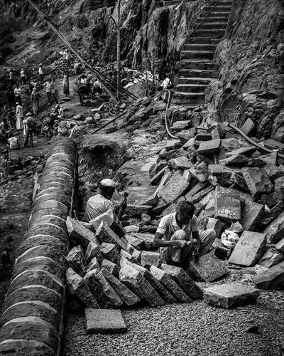 Connection Steps Day Stairs Maharashtratourism Maharashtra_ig Maharashtra Work Labor Bnw Blackandwhite People Structure Architecture