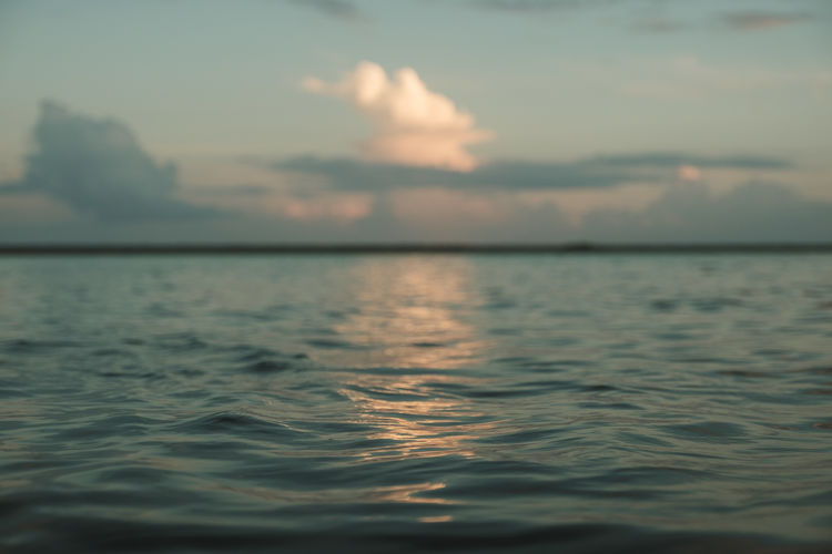 Bacalar Mexico Beauty In Nature Clouds Nature Outdoors Sea Sky Sunset Tranquil Scene Tranquility Water