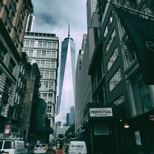 Architecture Building Exterior Built Structure New York No People Sky Skyline Street World Trade Center