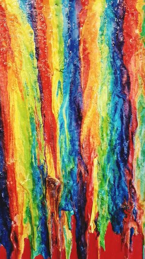 Katie's melted crayon picture Rivulets Dripping Home Art Work Melted Crayon Coloursplash Smudged