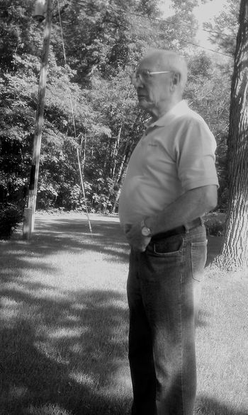 Wisdom. Casual Clothing Contemplation Day Leisure Activity Lifestyles Mature Adult Monochrome Monochrome Photography Outdoors Park - Man Made Space Person Road Solitude Standing Tranquility Tree Young Adult