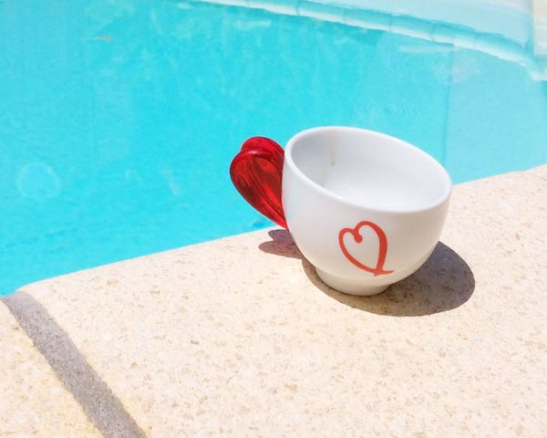 Little Break Kaffeepause Pause Pause Cafe Tasse Esspresso Cup Cup Of Coffee EyeEm Best Edits Red Red Color Heart Rot Eye4photography  Showcase June Kaffee Getränk Kaffeetasse Blau Coffee Time