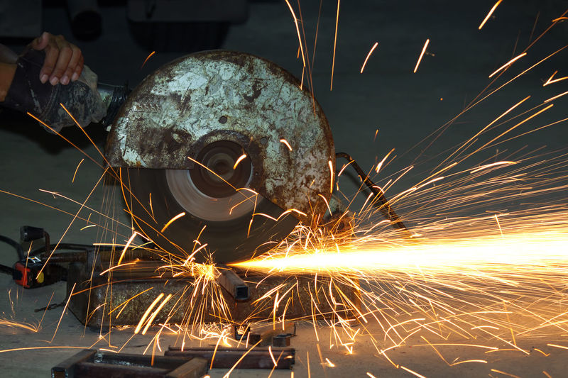 Welding spark industry Blurred Motion Circular Saw Cutting Effort Equipment Factory Grinding Heat - Temperature Indoors  Industrial Equipment Industry Iron - Metal Long Exposure Machinery Manufacturing Equipment Metal Metal Industry Motion Occupation Protection Sparks Welding Work Tool Working Workshop