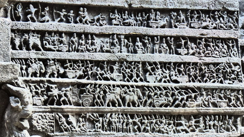Ajanta Caves Ancient Architecture Ancient Civilization Ancient Ruins Backgrounds Close-up Design Detail EyeEm Gallery Full Frame Geometry Goddess Gods High Angle View History No People Ornate Pattern Religion Ruined Sculpture Stone Textured  Wall