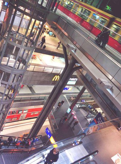 Neverending floors. Berlin Hauptbahnhof Train Station Travelling City The Street Photographer - 2015 EyeEm Awards